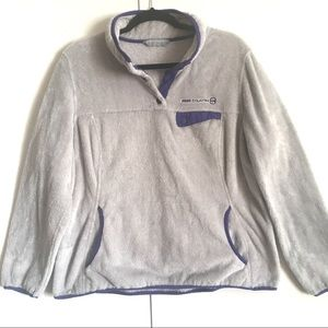 Tops - Free Country Soft Fleece Pullover purple/Grey XL